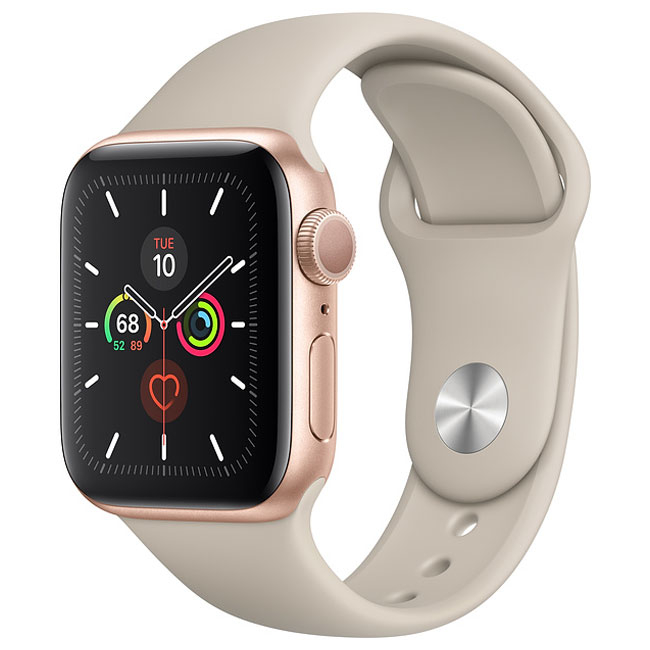 Смарт-часы Apple Watch Series 5 GPS + Cellular 44mm Gold Stainless Steel Case with Stone Sport Band