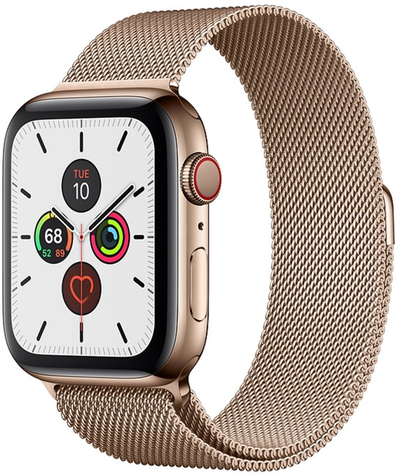 Смарт-часы Apple Watch Series 5 GPS + Cellular 44mm Gold Stainless Steel Case with Gold Milanese Loop