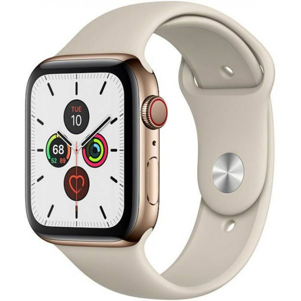 Смарт-часы Apple Watch Series 5 LTE 40mm Gold Steel w. Stone b.- Gold Steel