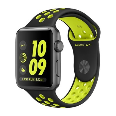 Смарт-часы Apple Watch Nike+ 38mm Space Gray Aluminum Case with Black/Volt Nike Sport Band (MP082)