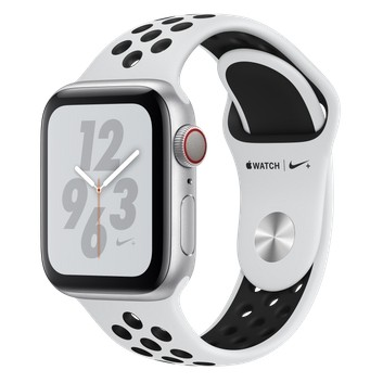 Смарт-часы Apple Watch Nike+ Series 4 GPS + LTE 40mm Silver Alum. w. Platinum/Black Nike Sport b. Silver Alum. (MTV92)