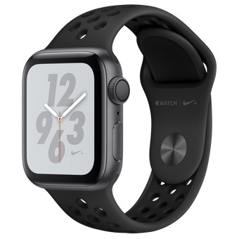Смарт-часы Apple Watch Nike+ Series 4 GPS 40mm Gray Alum. w. Anthracite/Black Nike Sport b. Gray Alum. (MU6J2)