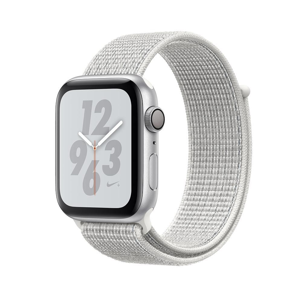 Смарт-часы Apple Watch Nike+ Series 4 GPS 44mm Silver Alum. w. Summit White Nike Sport l. Silver Alum. (MU7H2)