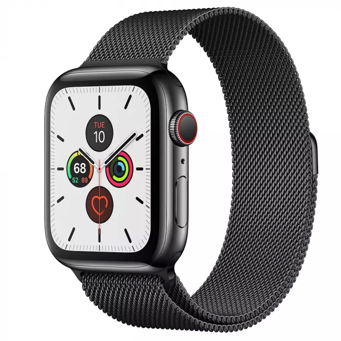 Смарт-часы Apple Watch Series 5 GPS + Cellular 44mm Space Black Stainless Steel Case with Space Black Milanese Loop