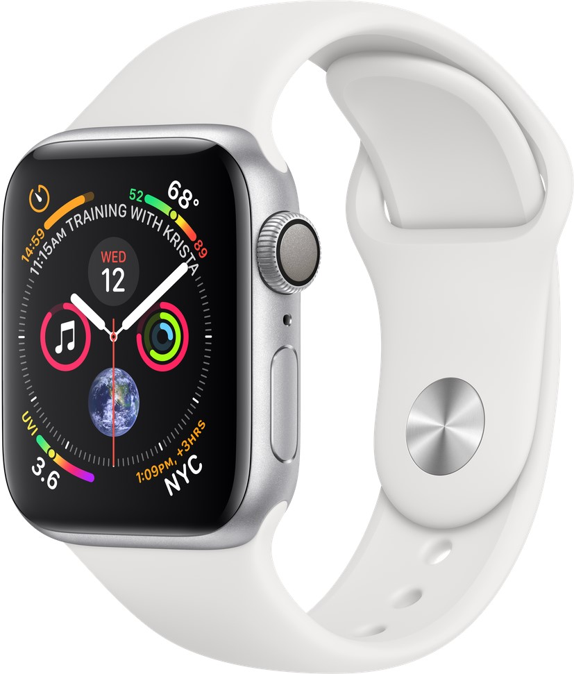Смарт-часы Apple Watch Series 5 44mm Silver Aluminum Case with White Sport Band